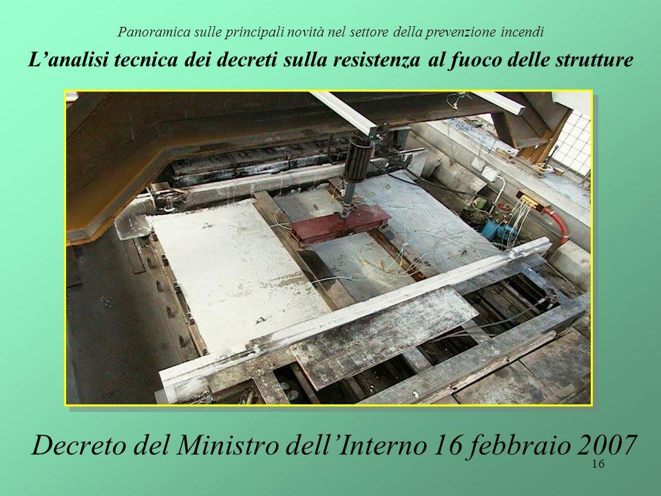 Decreto del Ministro dell'Interno 16 febbraio 2007