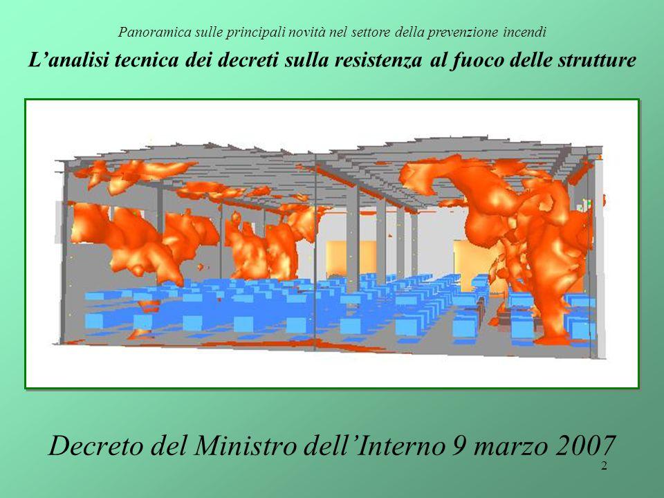 Decreto del Ministro dell'Interno 9 marzo 2007