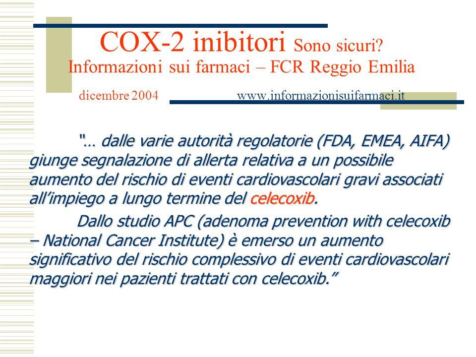 COX-2 inibitori Sono sicuri