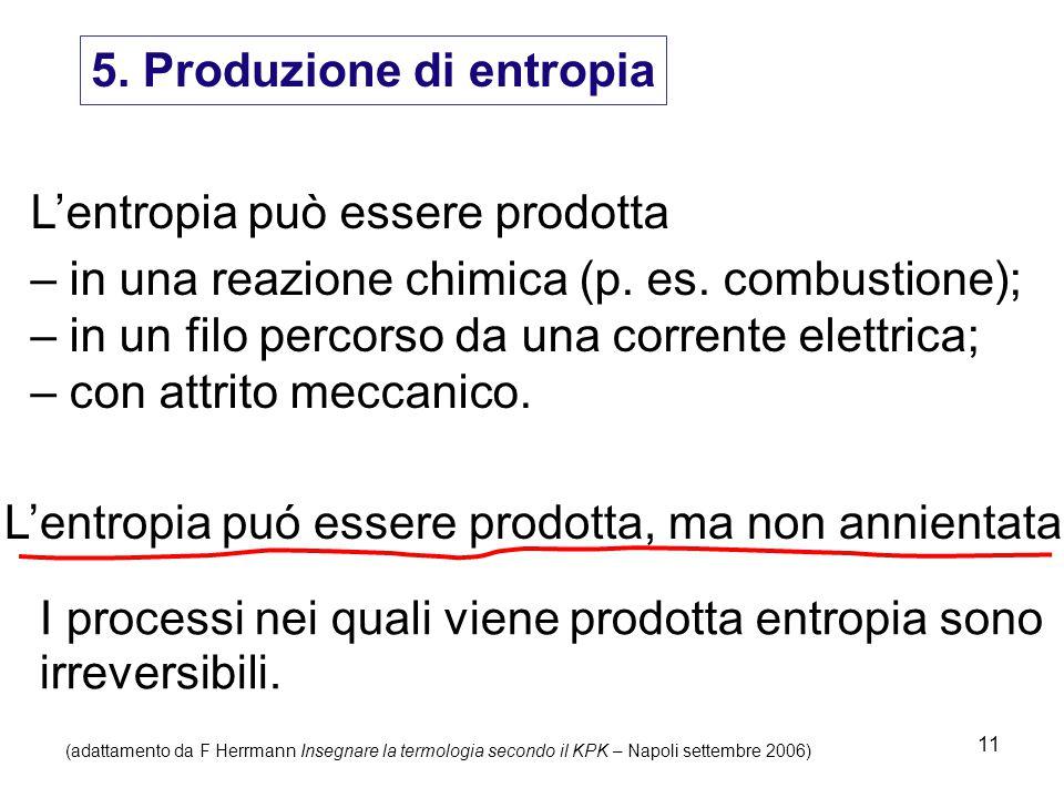 5. Produzione di entropia