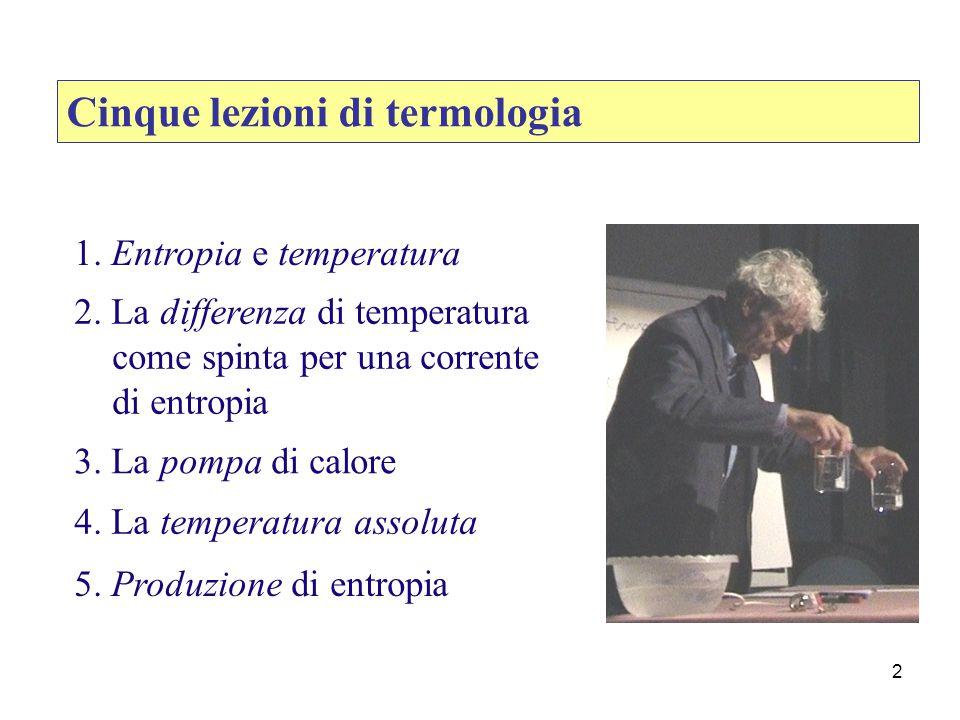 Cinque lezioni di termologia