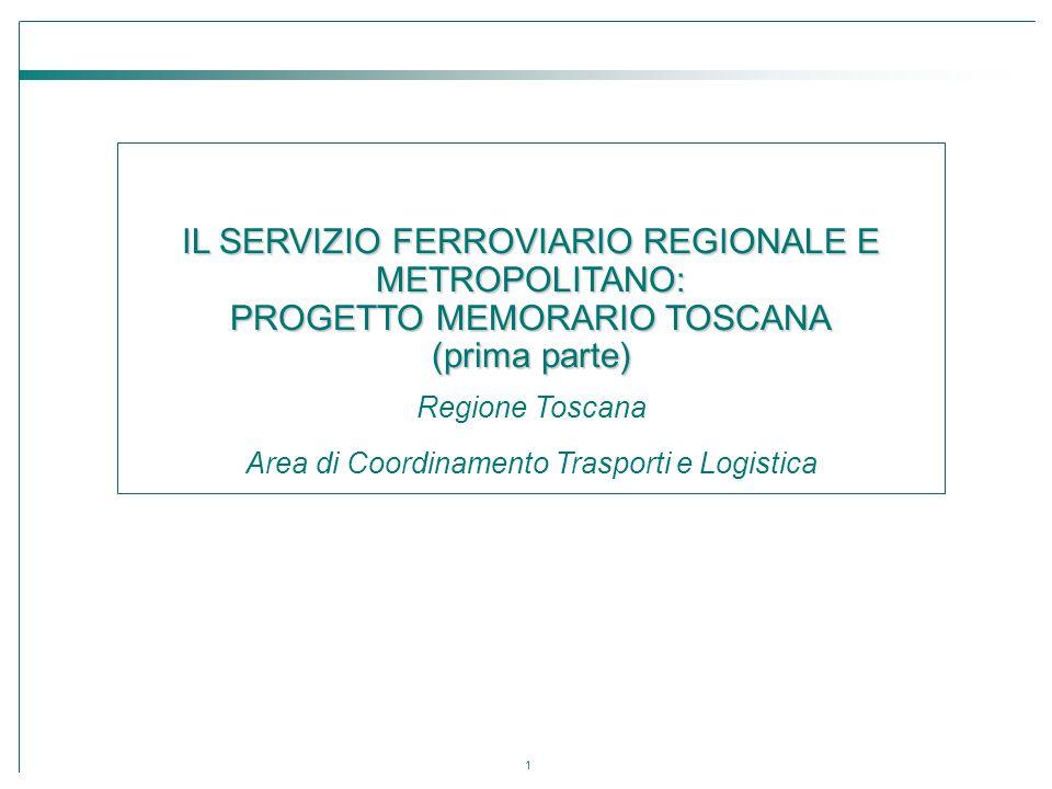 IL SERVIZIO FERROVIARIO REGIONALE E METROPOLITANO: