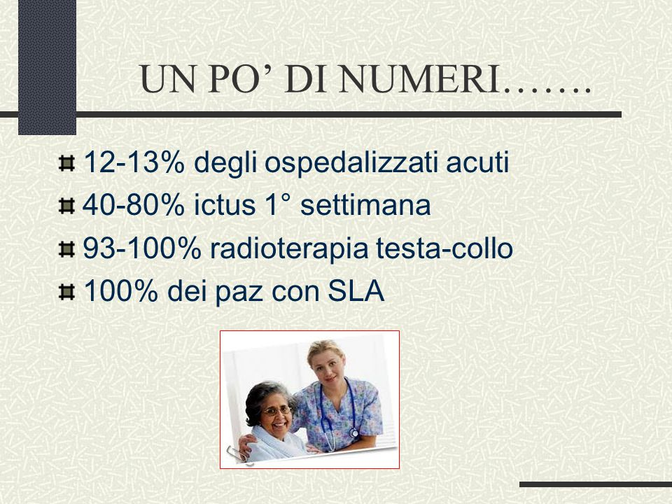UN PO' DI NUMERI……. 12-13% degli ospedalizzati acuti