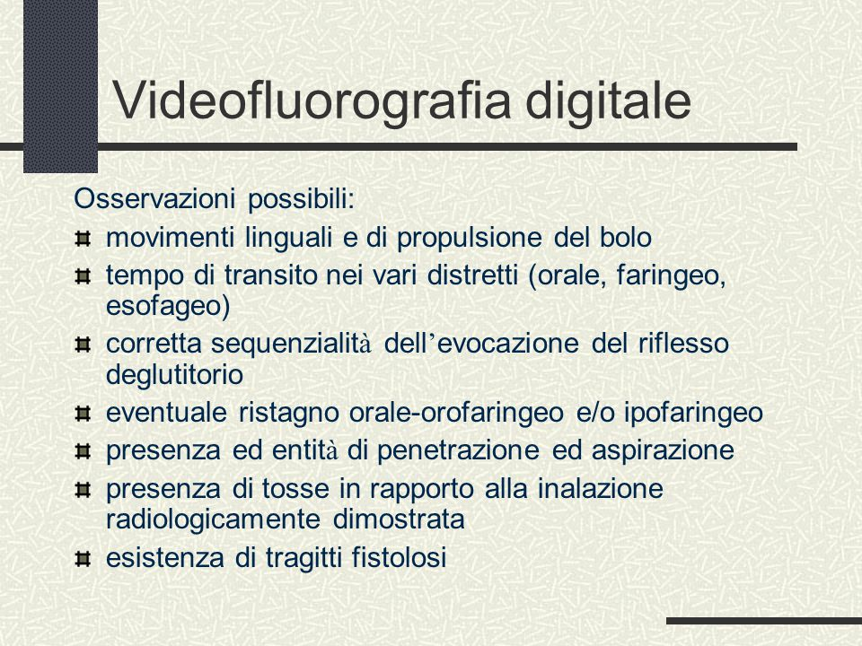 Videofluorografia digitale