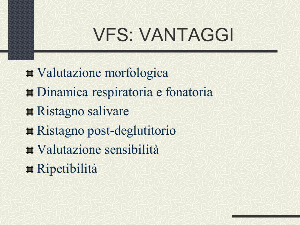 VFS: VANTAGGI Valutazione morfologica
