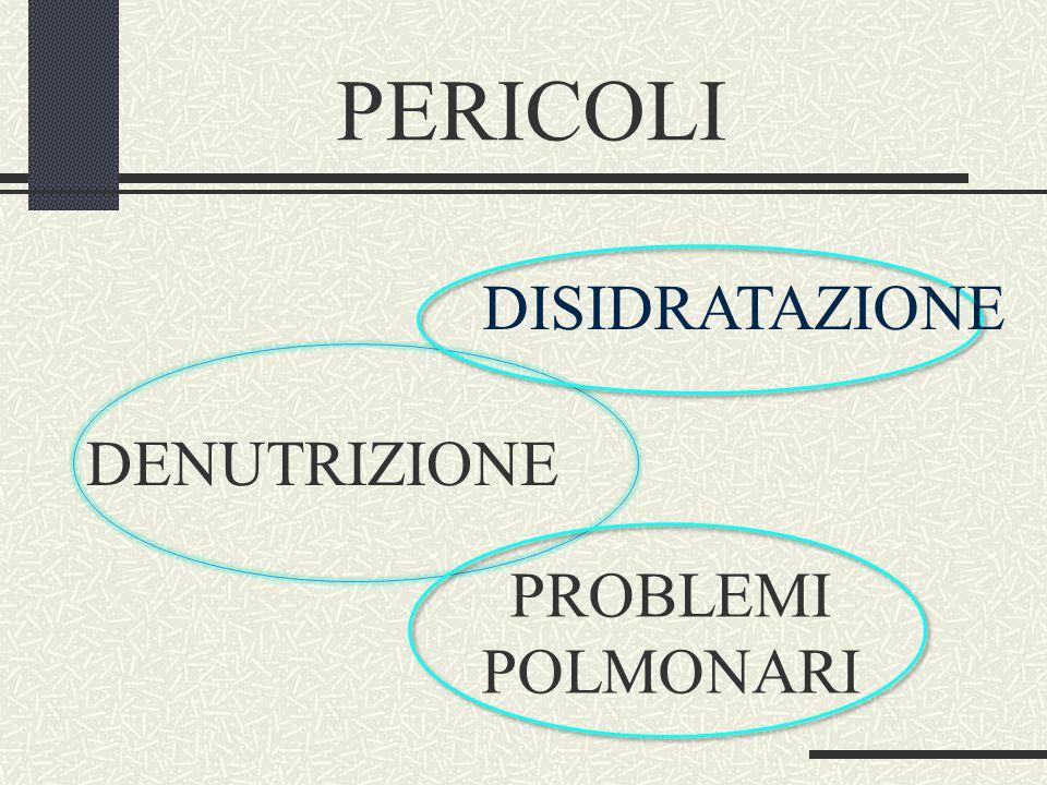 PERICOLI DISIDRATAZIONE DENUTRIZIONE PROBLEMI POLMONARI