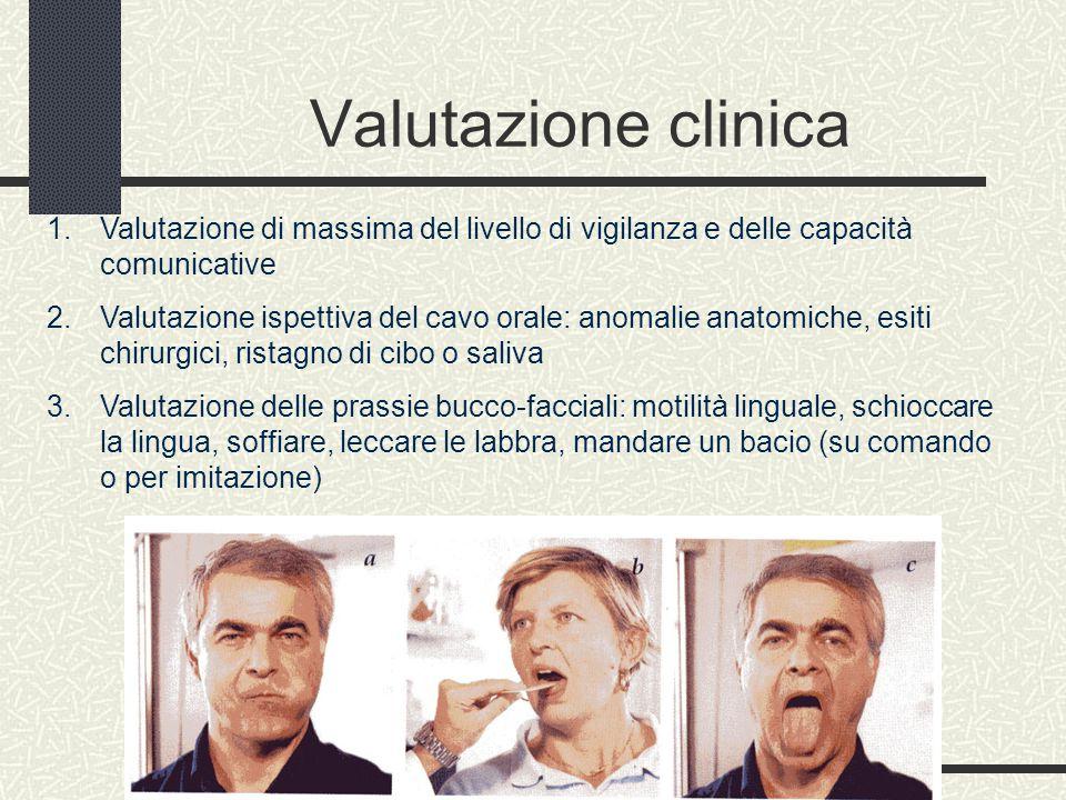 Valutazione clinica Valutazione di massima del livello di vigilanza e delle capacità comunicative.