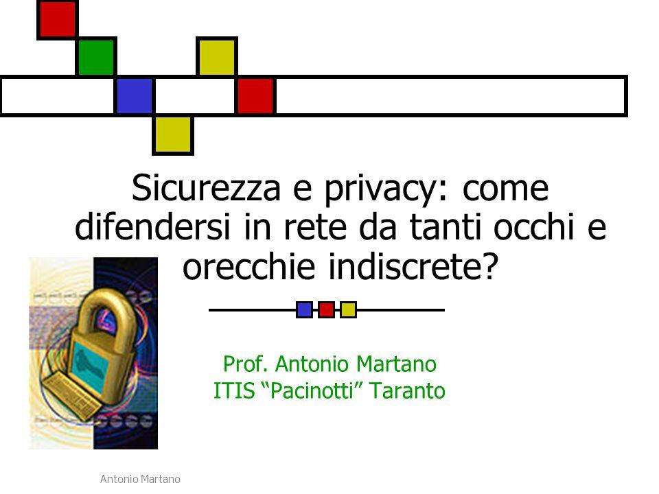 Prof. Antonio Martano ITIS Pacinotti Taranto