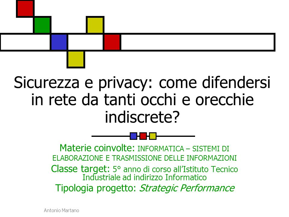 Tipologia progetto: Strategic Performance