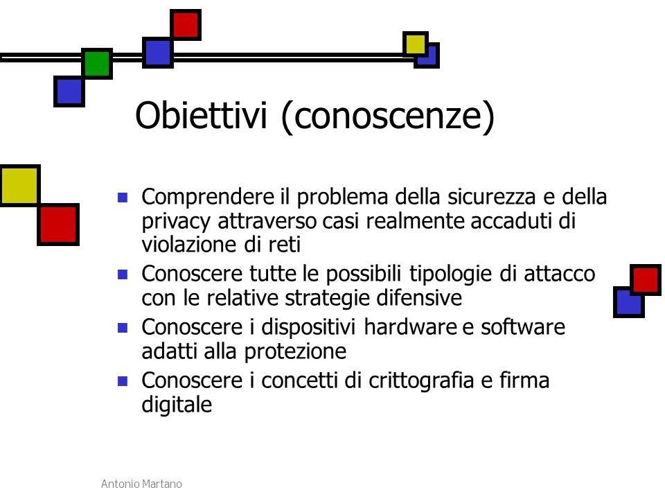Obiettivi (conoscenze)