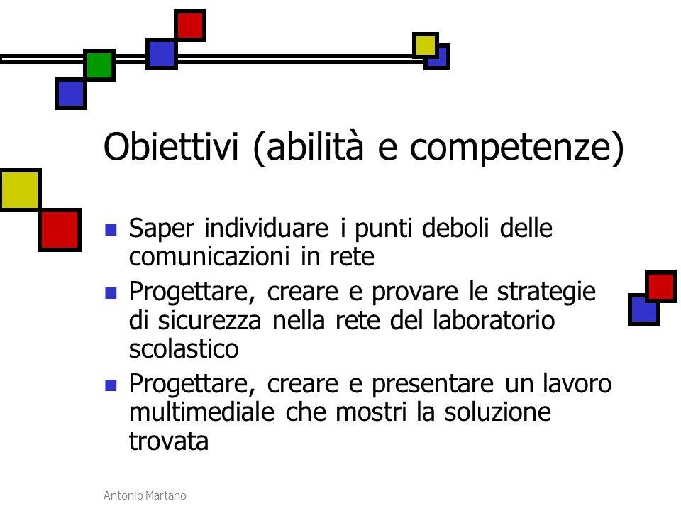 Obiettivi (abilità e competenze)
