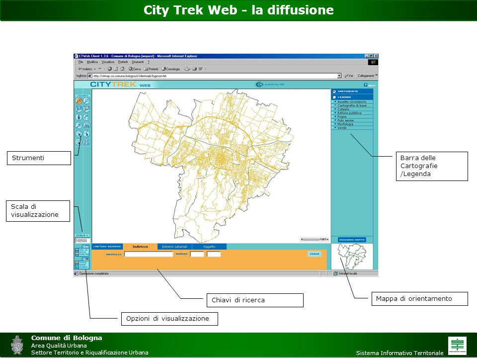 City Trek Web - la diffusione