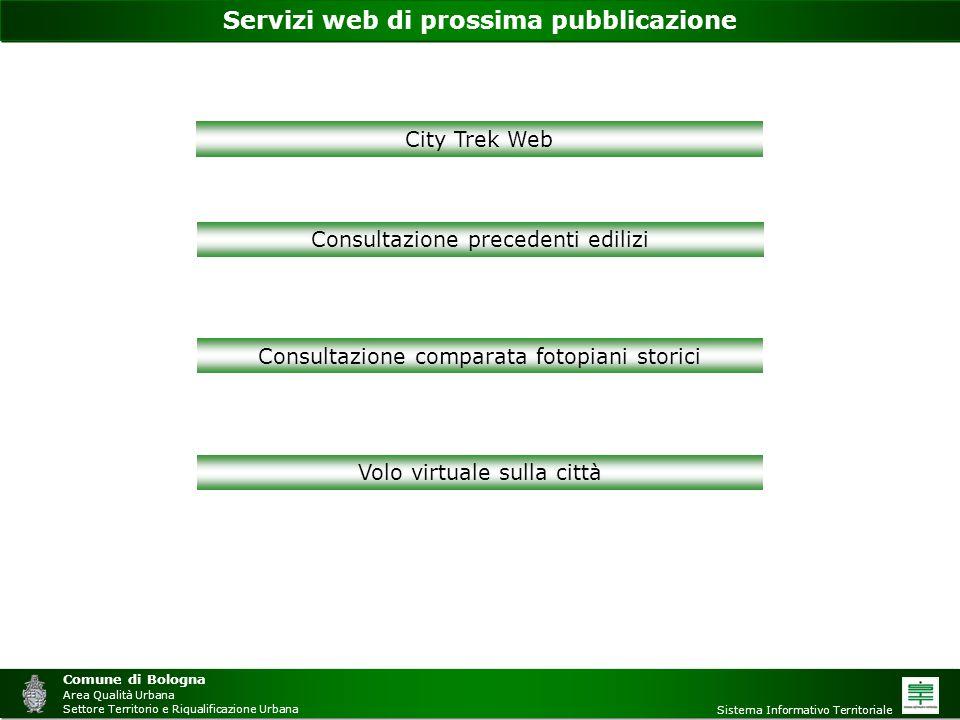 Servizi web di prossima pubblicazione