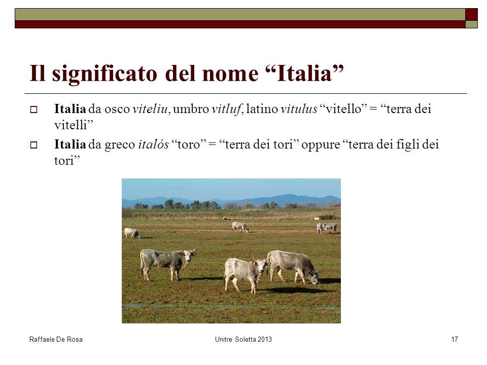 Il significato del nome Italia