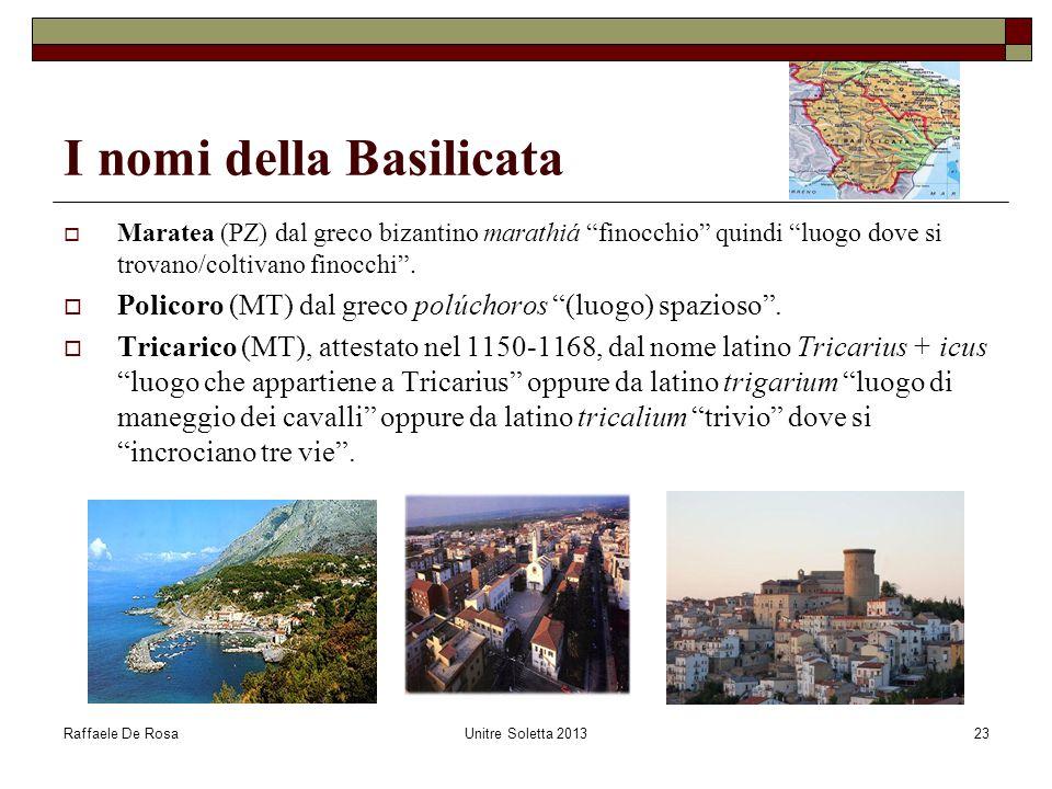 I nomi della Basilicata