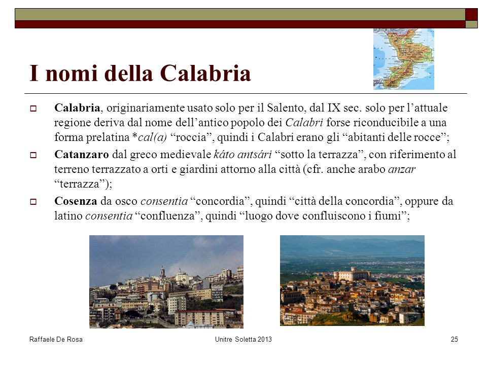 I nomi della Calabria