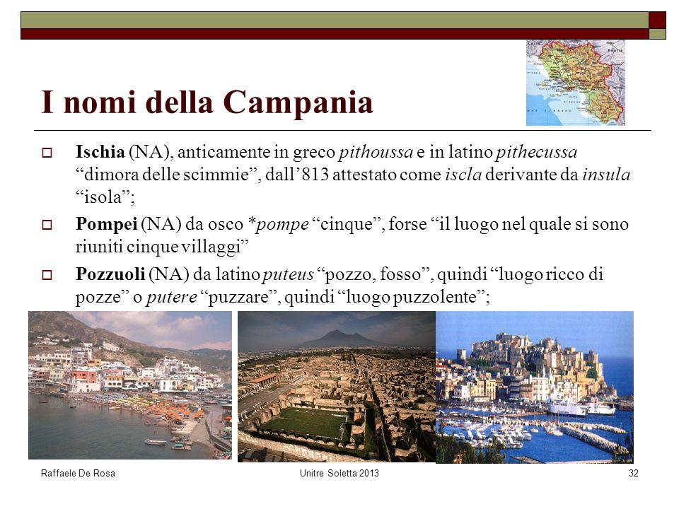 I nomi della Campania
