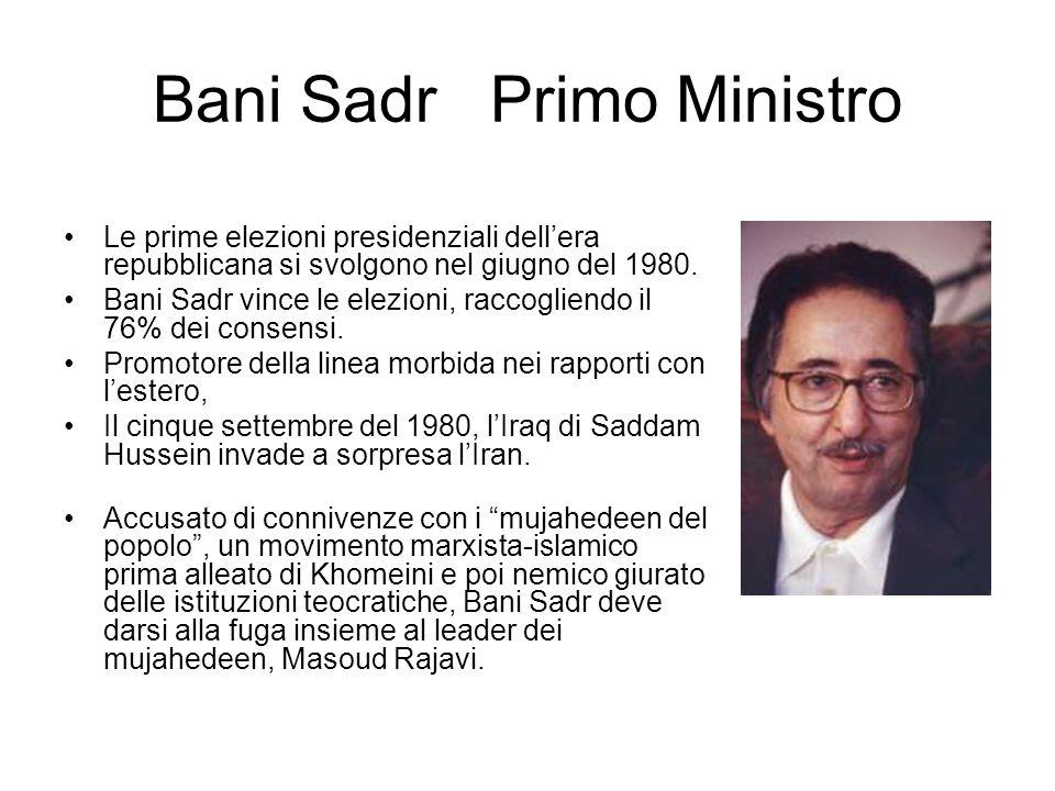 Bani Sadr Primo Ministro