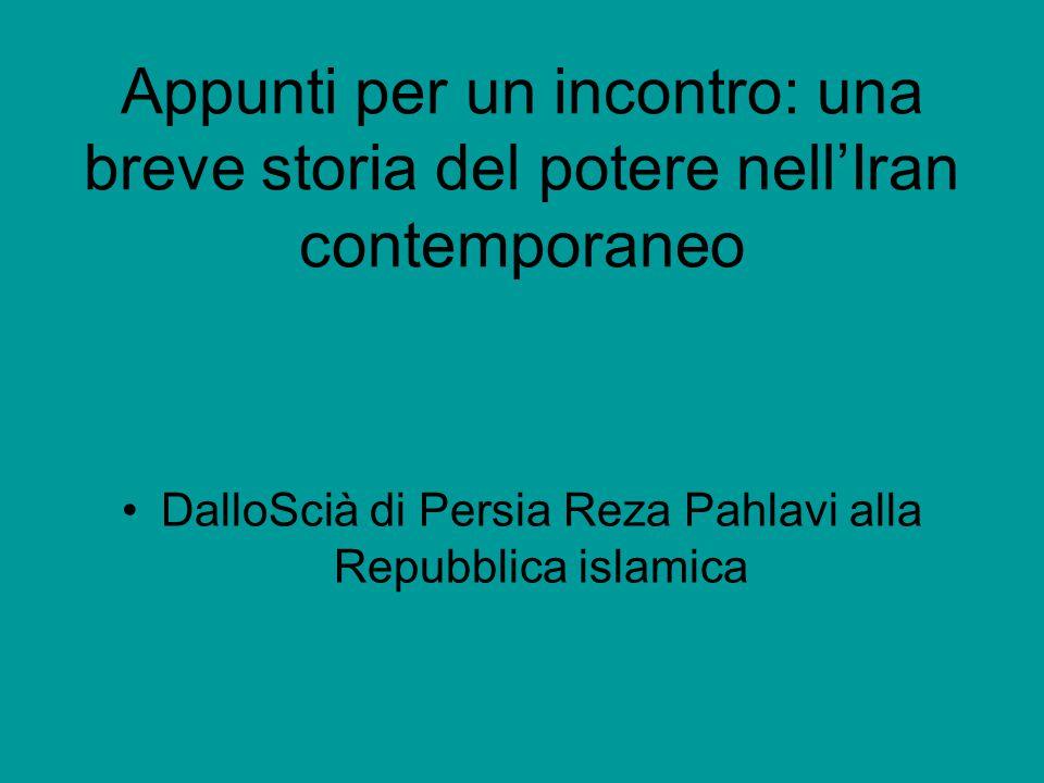 DalloScià di Persia Reza Pahlavi alla Repubblica islamica