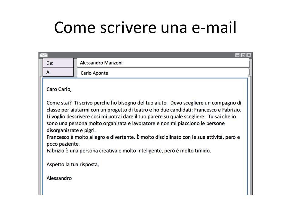 Come scrivere una e-mail