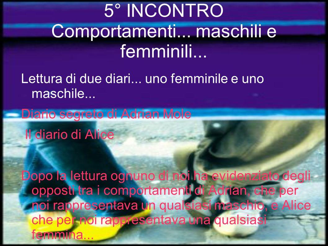 5° INCONTRO Comportamenti... maschili e femminili...
