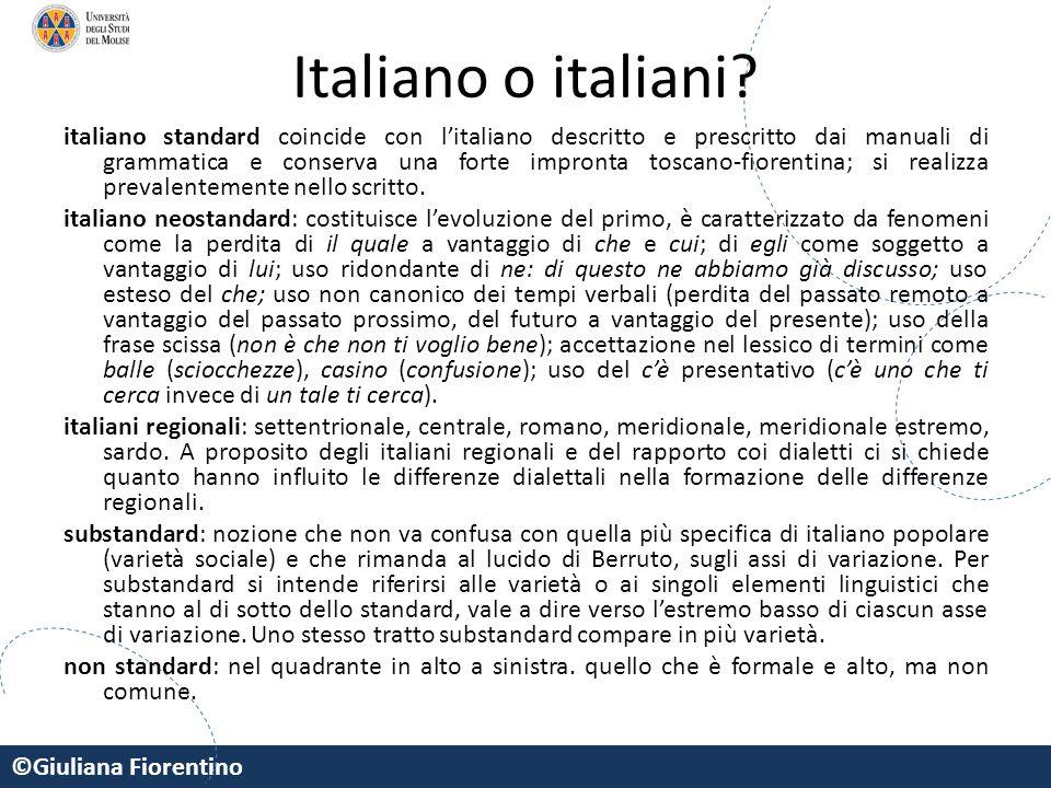 Italiano o italiani