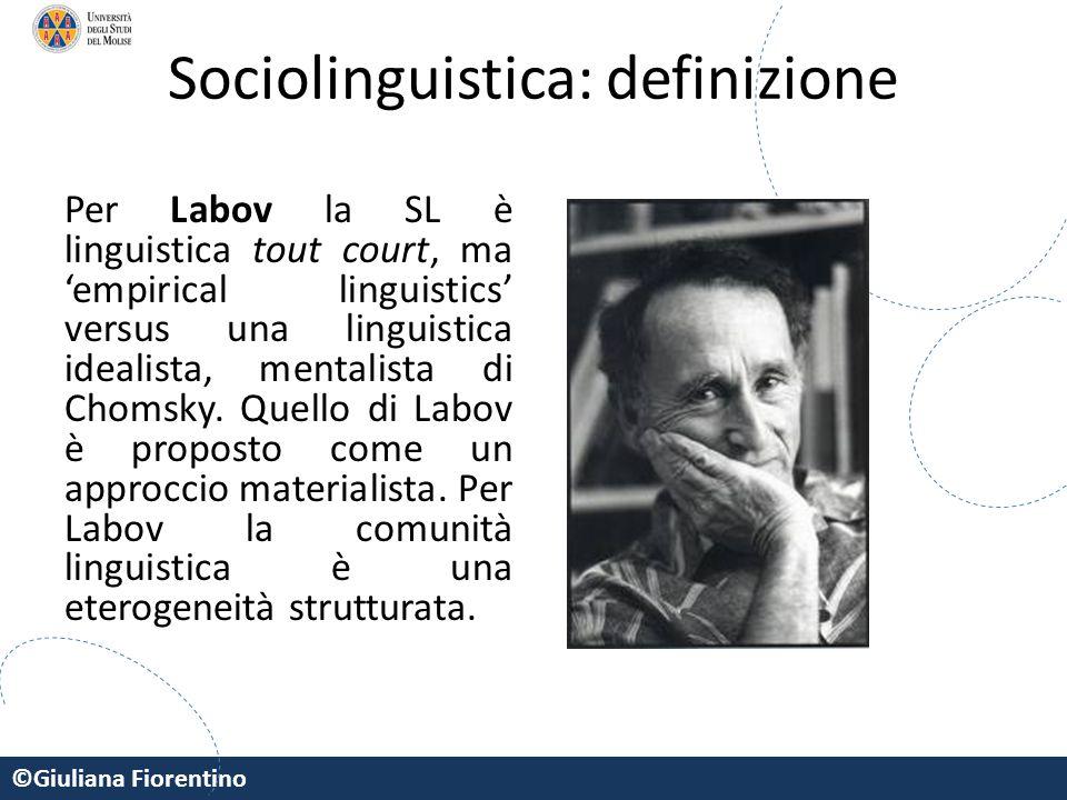Sociolinguistica: definizione