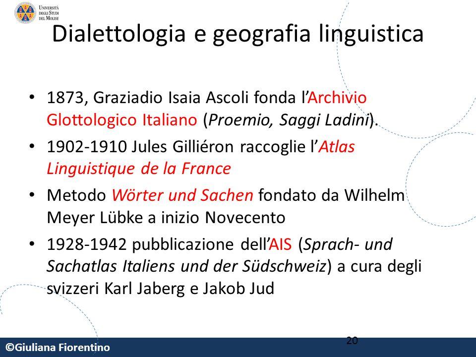 Dialettologia e geografia linguistica