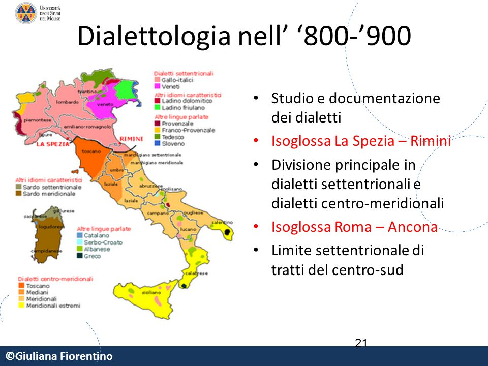 Dialettologia nell' '800-'900