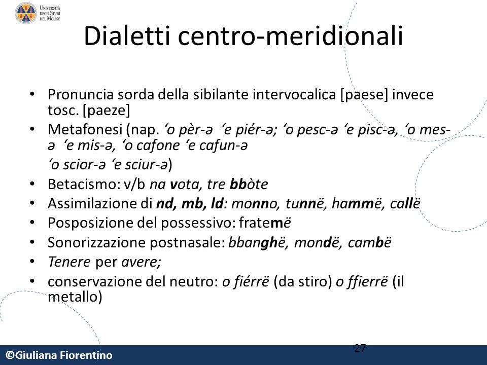 Dialetti centro-meridionali