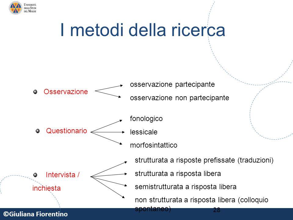 I metodi della ricerca osservazione partecipante
