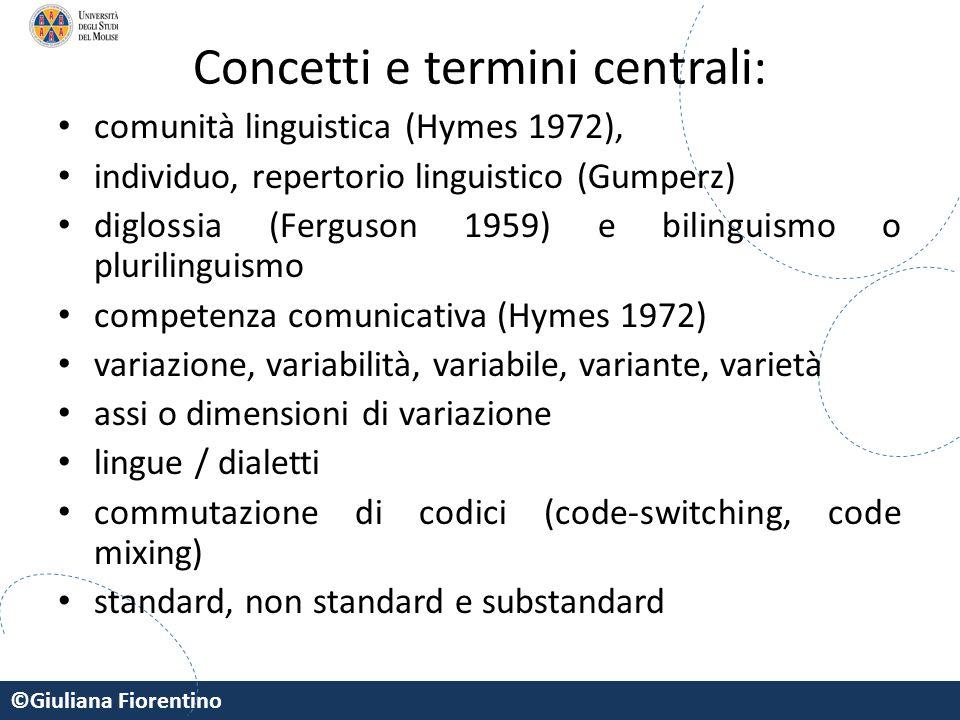 Concetti e termini centrali: