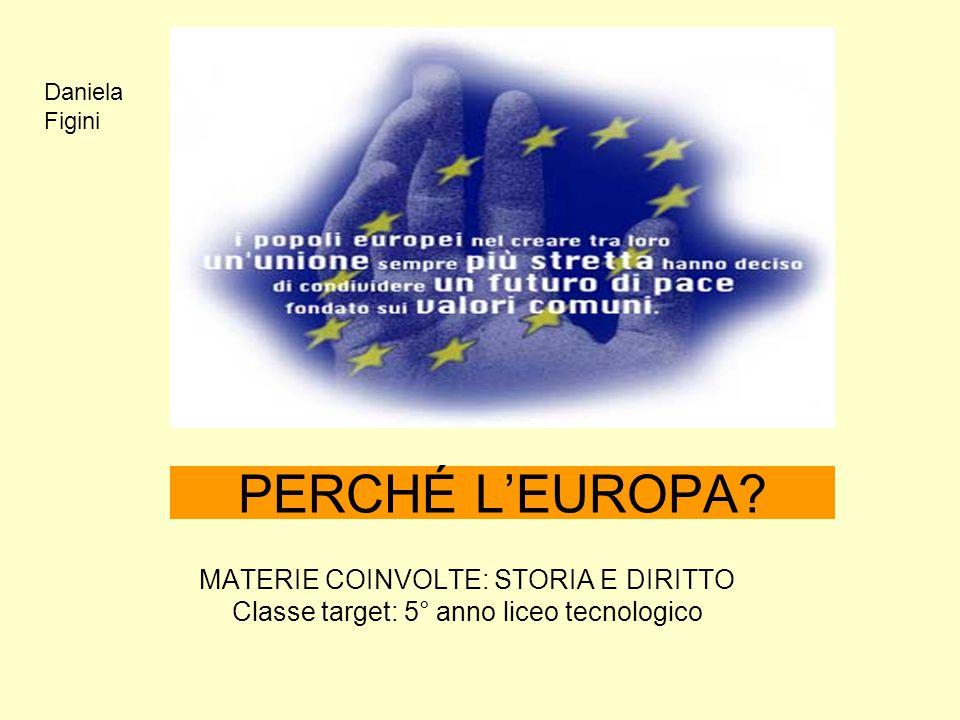 PERCHÉ L'EUROPA MATERIE COINVOLTE: STORIA E DIRITTO