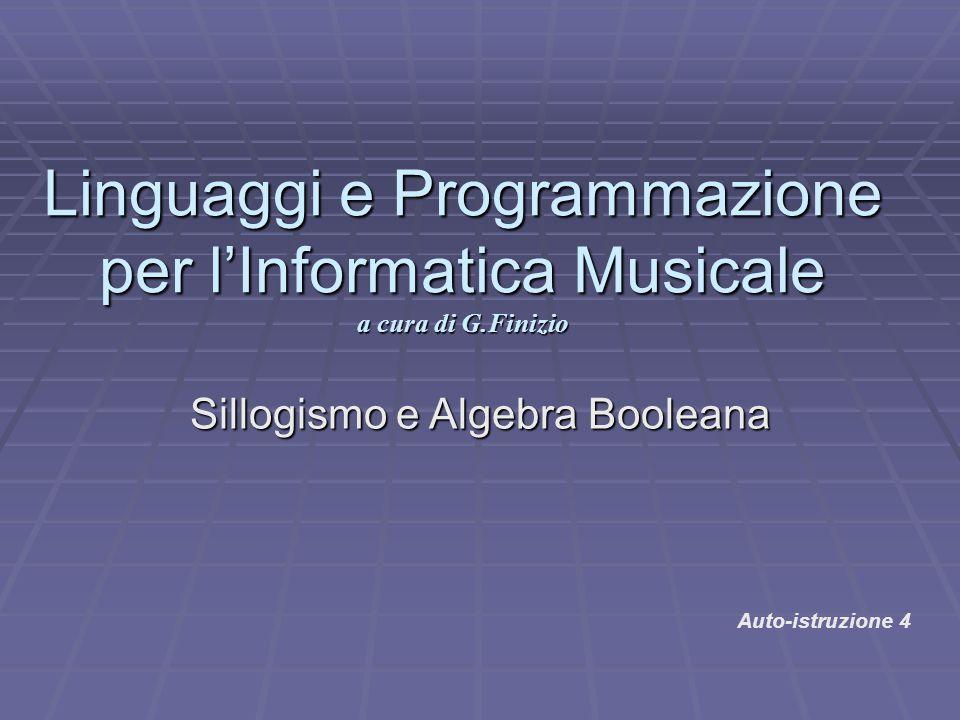 Linguaggi e Programmazione per l'Informatica Musicale