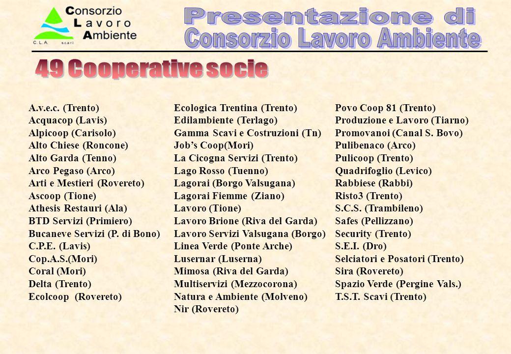 49 Cooperative socie A.v.e.c. (Trento) Acquacop (Lavis)