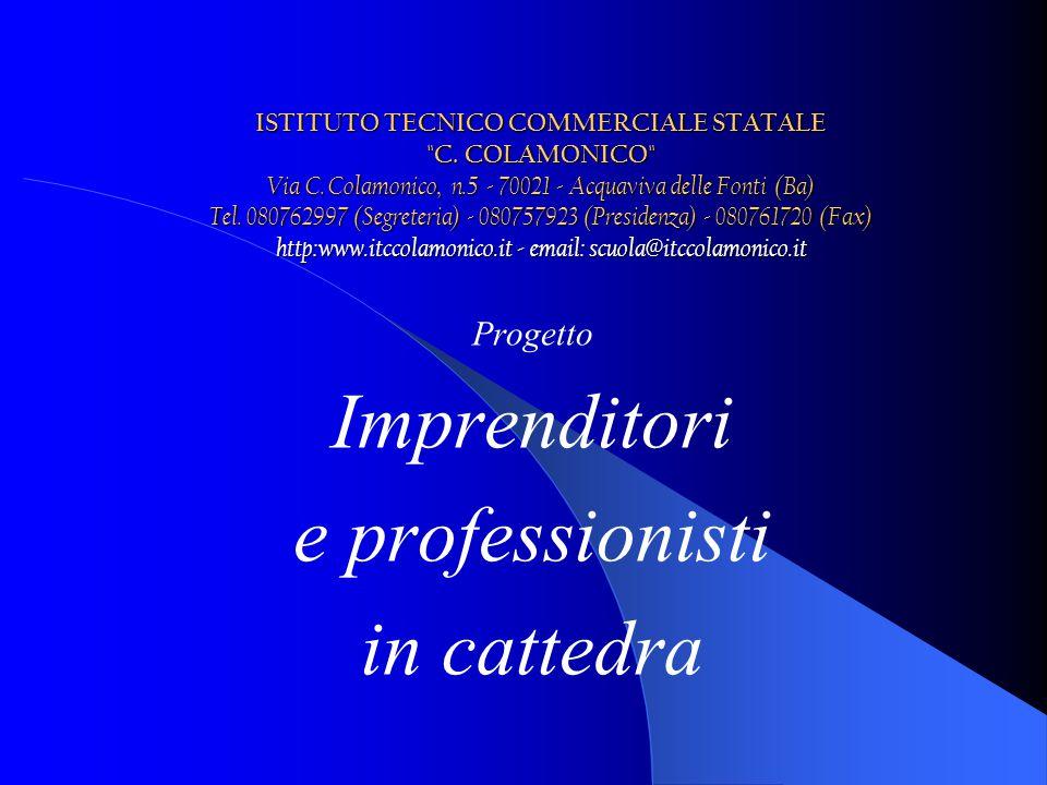 Progetto Imprenditori e professionisti in cattedra