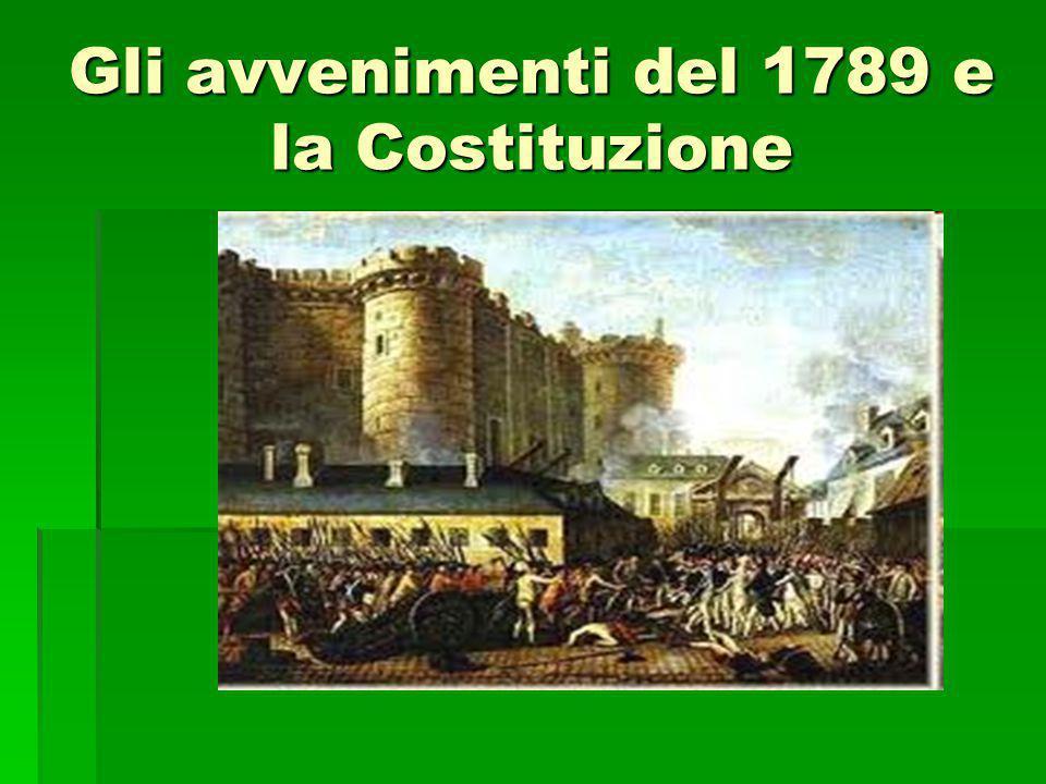 Gli avvenimenti del 1789 e la Costituzione