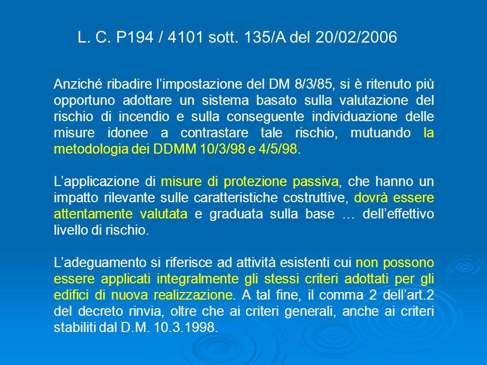 L. C. P194 / 4101 sott. 135/A del 20/02/2006