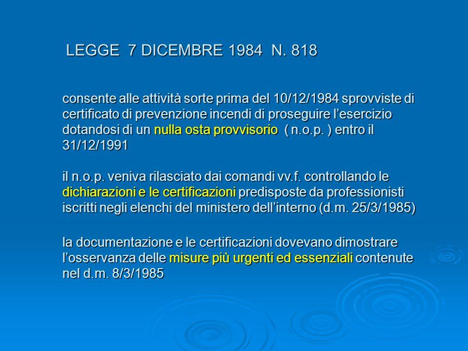 LEGGE 7 DICEMBRE 1984 N. 818