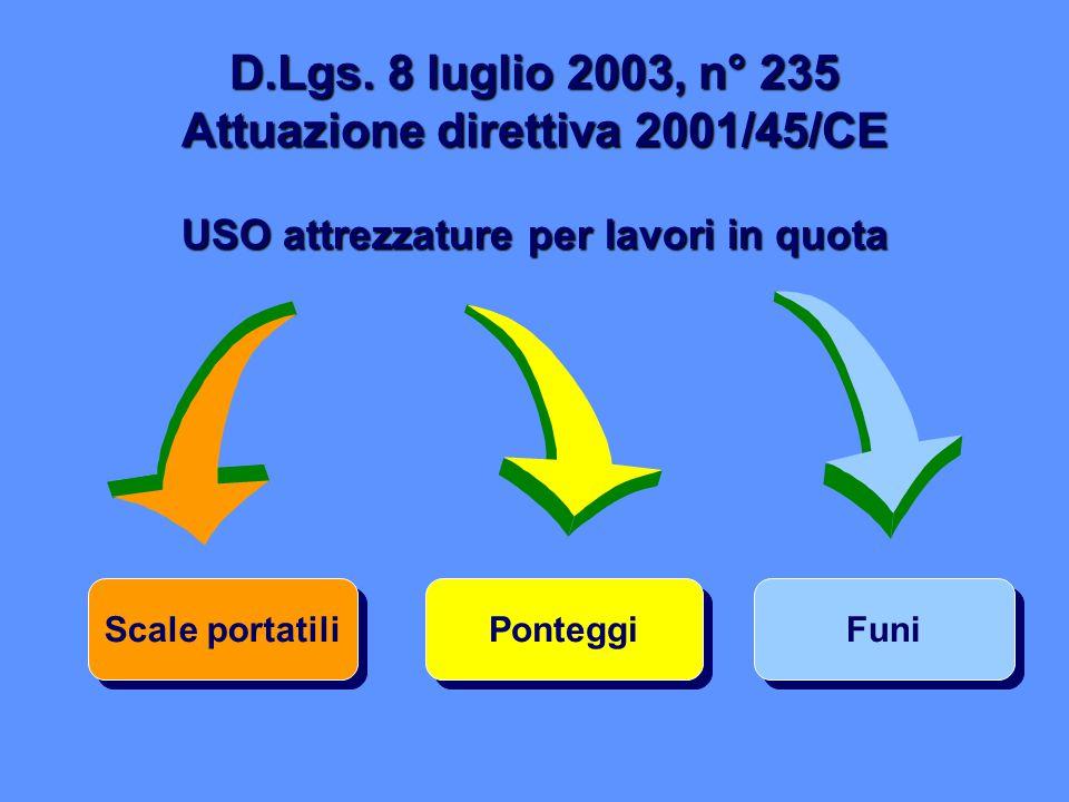 D.Lgs. 8 luglio 2003, n° 235 Attuazione direttiva 2001/45/CE
