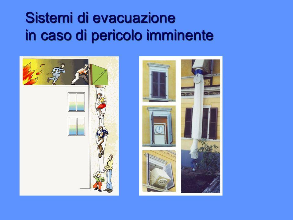 Sistemi di evacuazione in caso di pericolo imminente
