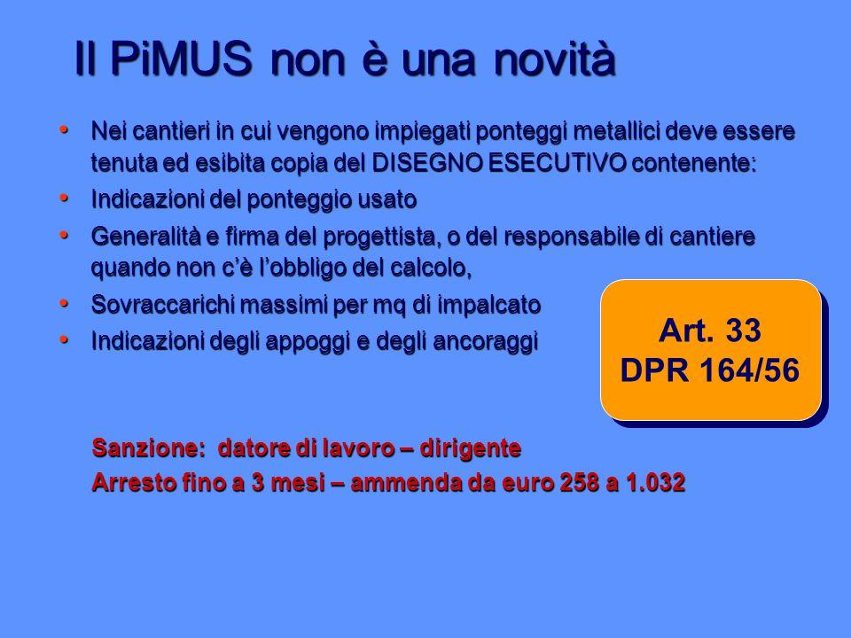 Il PiMUS non è una novità