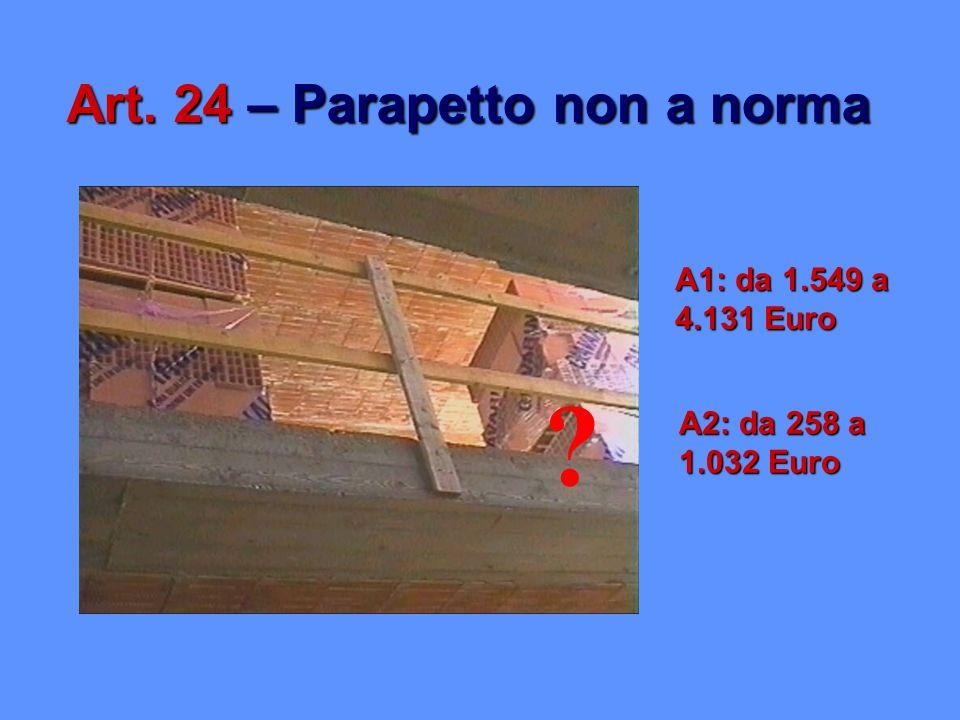 Art. 24 – Parapetto non a norma