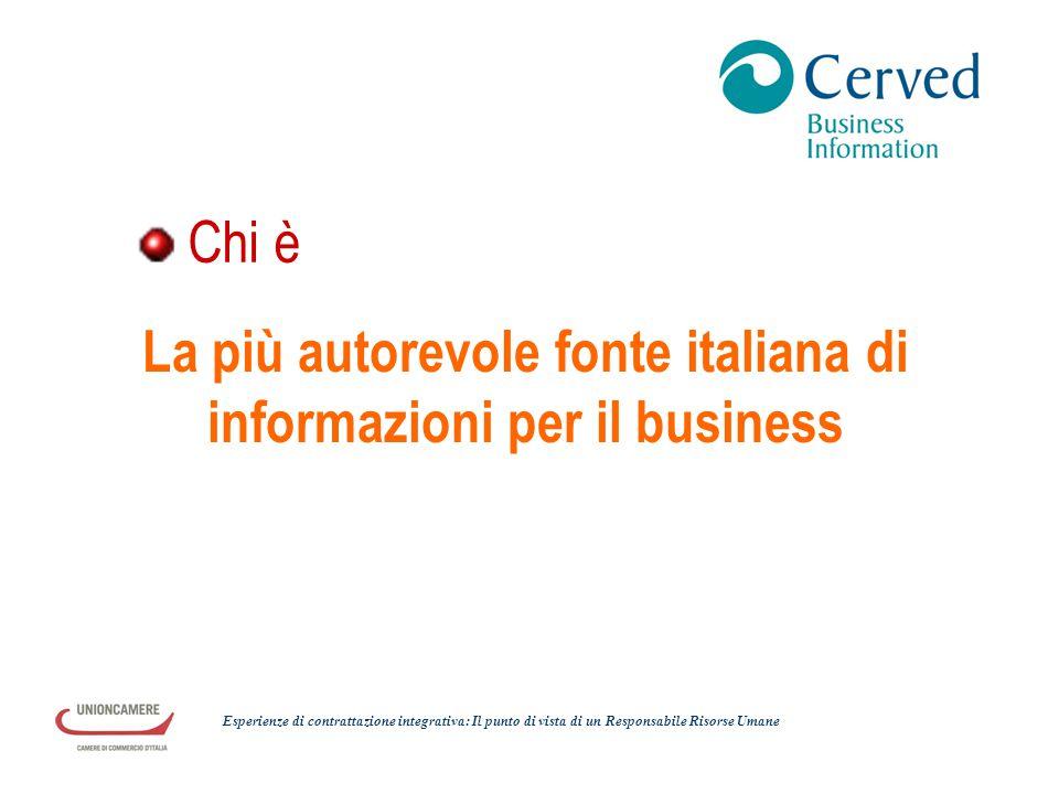 La più autorevole fonte italiana di informazioni per il business