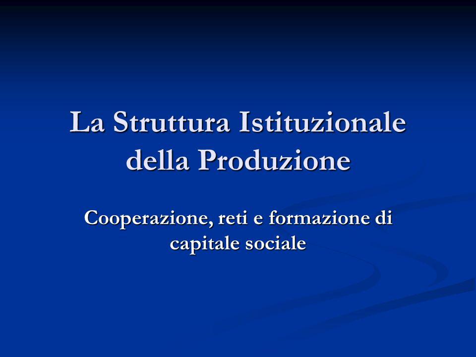La Struttura Istituzionale della Produzione