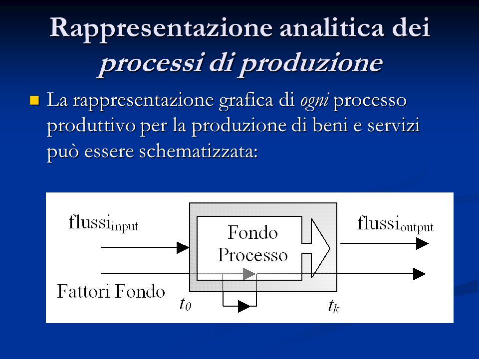 Rappresentazione analitica dei processi di produzione