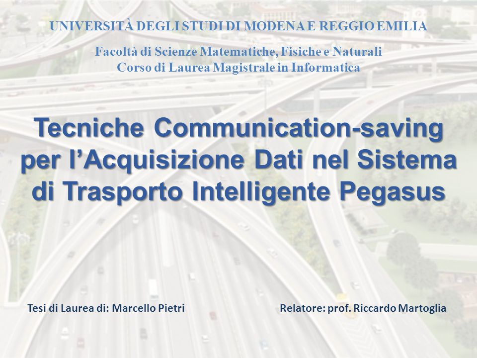 Tecniche Communication-saving per l'Acquisizione Dati nel Sistema