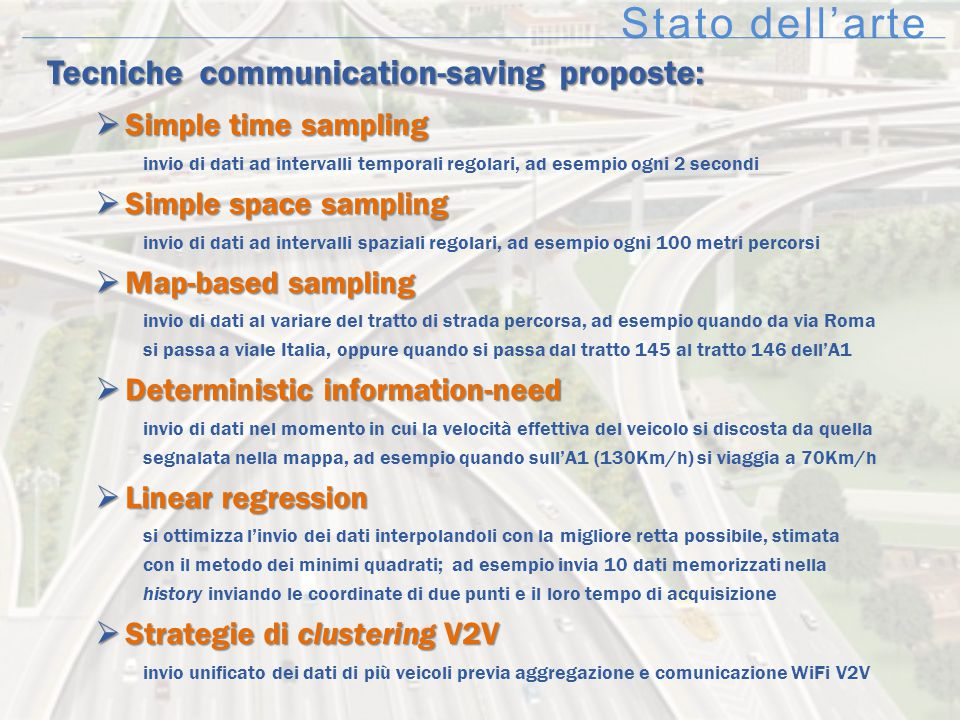 Stato dell'arte Tecniche communication-saving proposte: