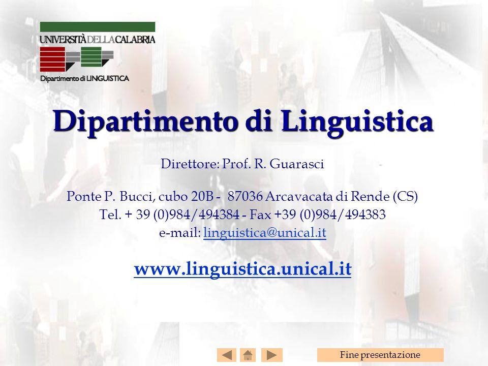 Dipartimento di Linguistica