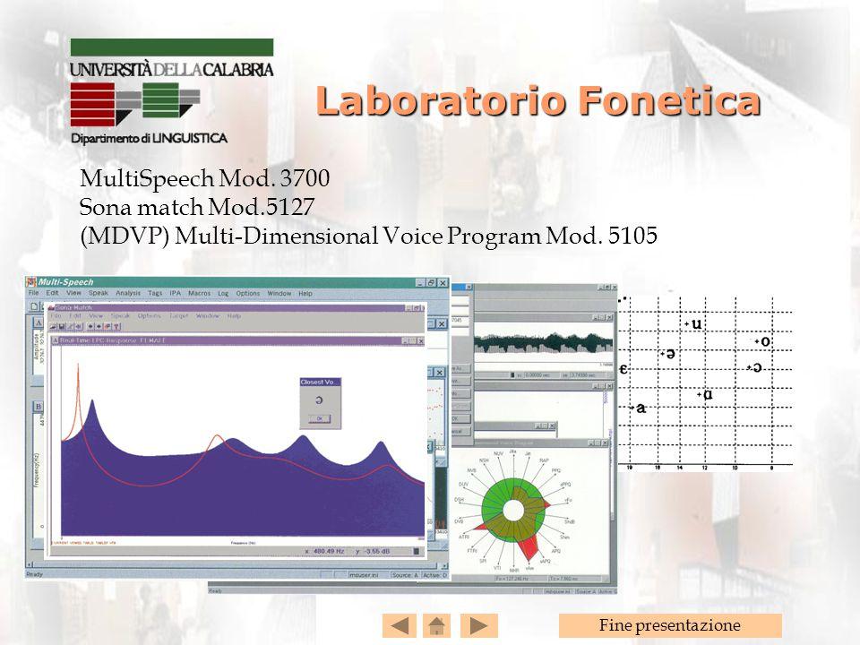 Laboratorio Fonetica MultiSpeech Mod. 3700 Sona match Mod.5127